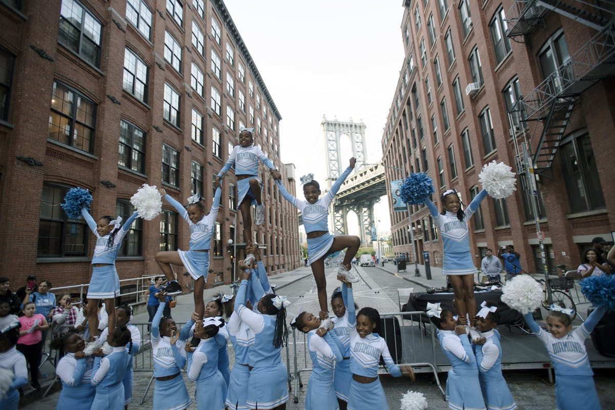 The PS307 Diamonds perform at The Great Dumbo Drop every year