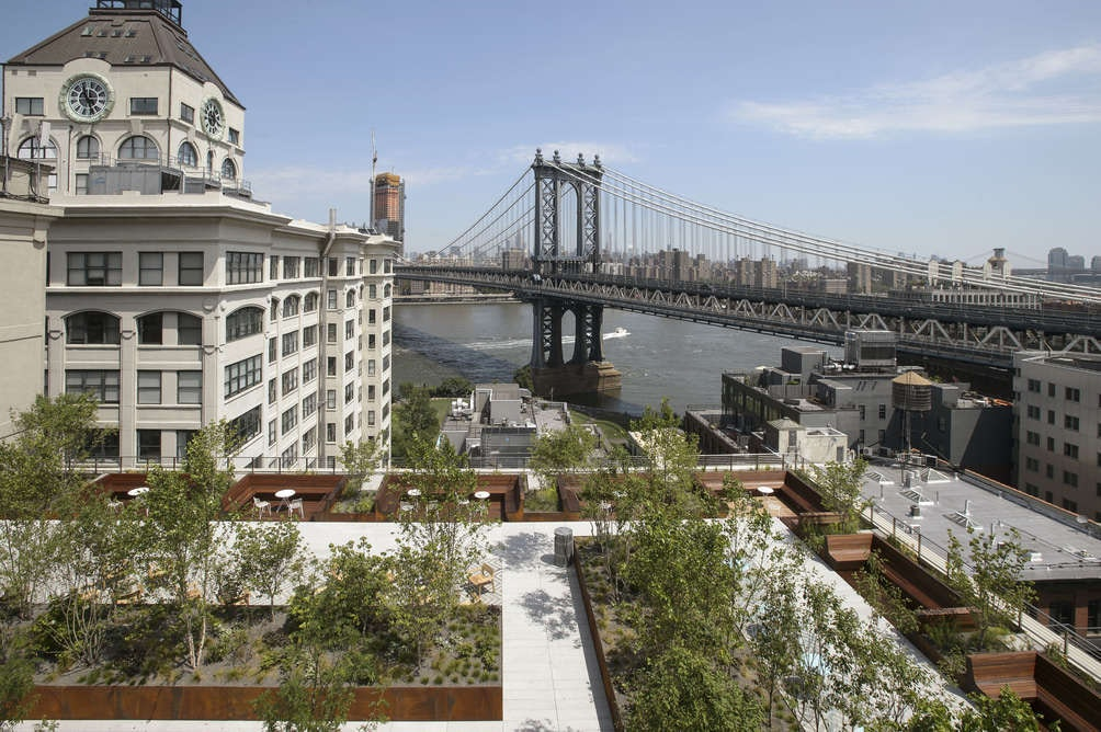 Meeting with a view: check out the roof decks of all Two Trees buildings.