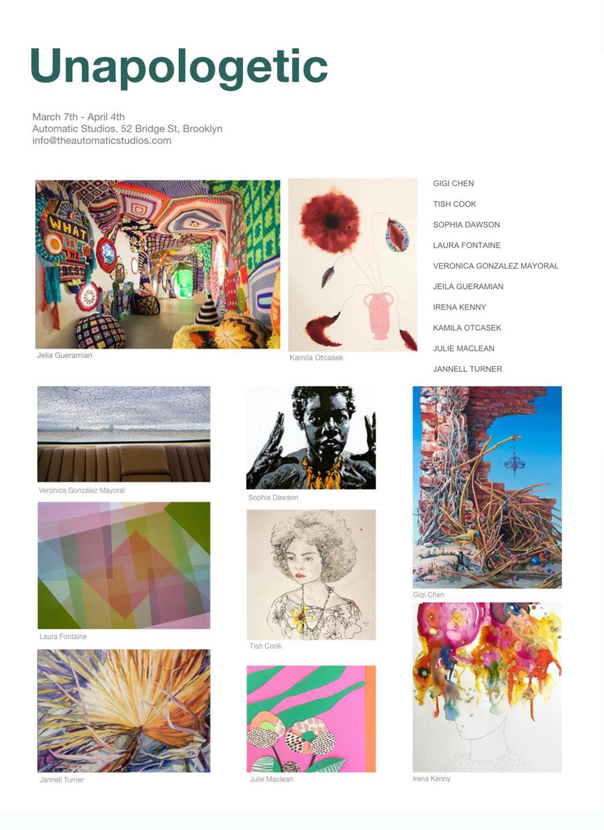Group Exhibition: UNAPOLOGETIC