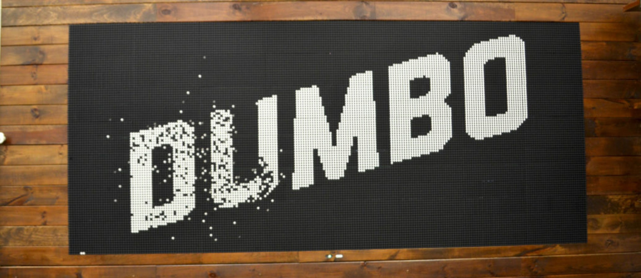 DUMBO Logo generated by the Flip-Disc Display System