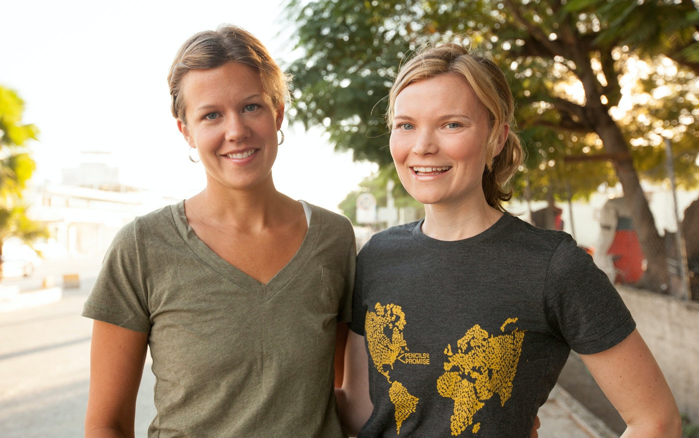 JODY LANDERS, CO-FOUNDER AND BOARD MEMBER AND BECKY STRAW INPort au Prince, Haiti.