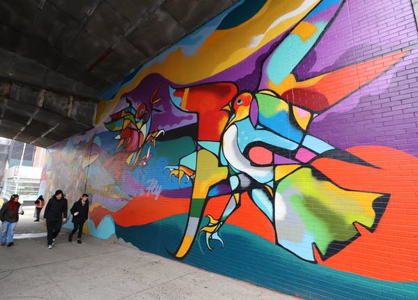 Dumbo Walls: Massive Stampede by CAM