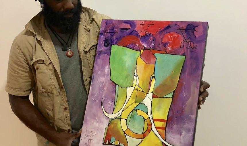 Cam Painting Dumbo Drop