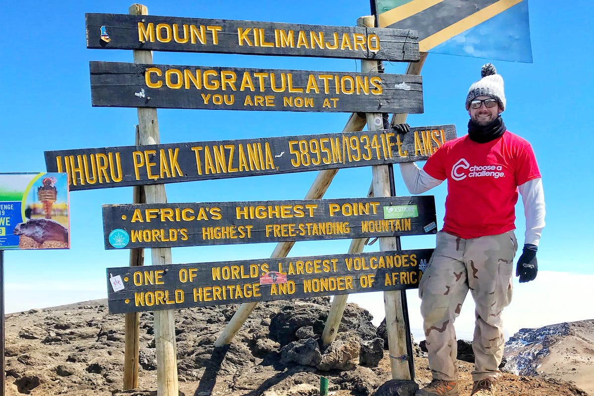 Mike at Mount Kilimanjaro