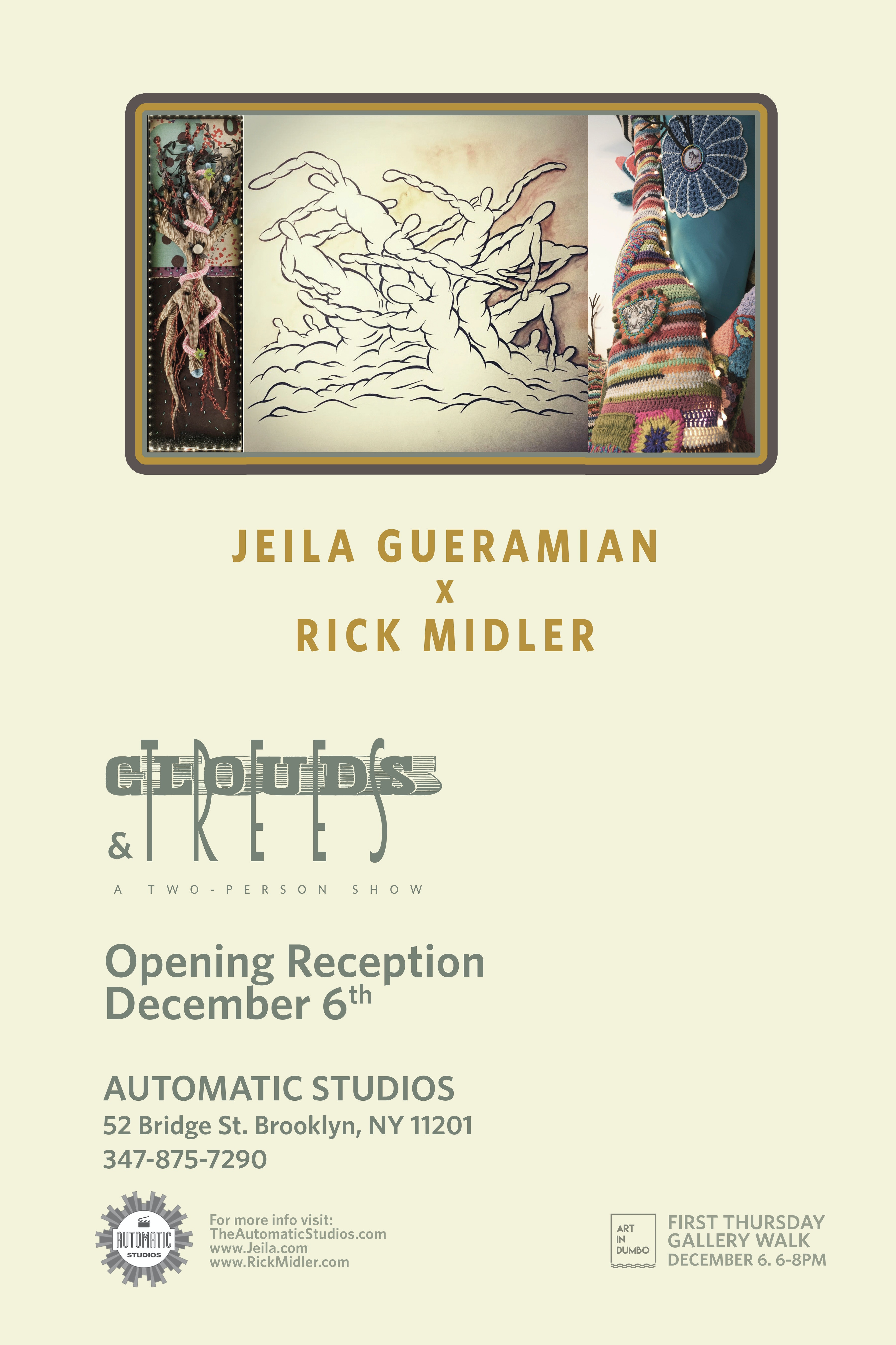Jeila Gueramian & Rick Midler: Clouds & Trees