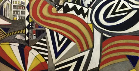 """Bernardo Navarro, """"Coney Island,"""" 2020. Mixed media on canvas. 60"""" x 72"""""""