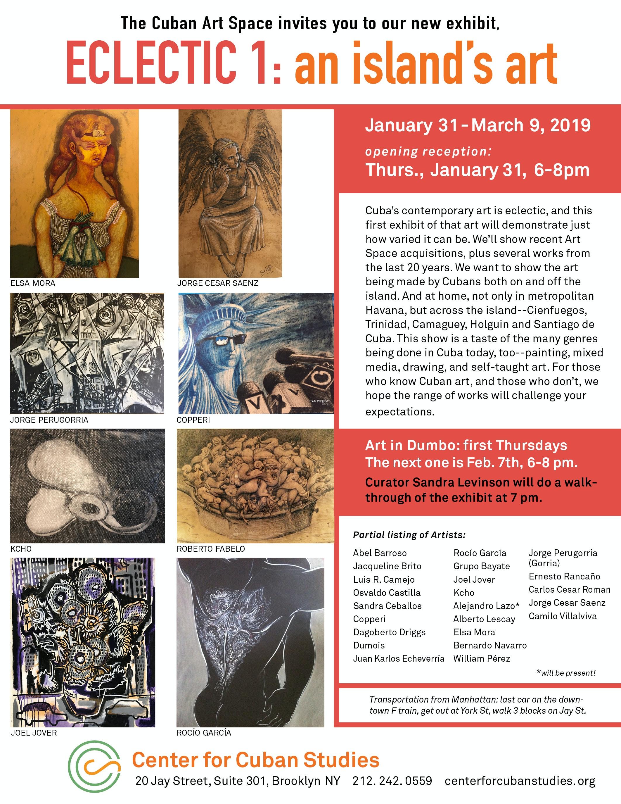 Group Exhibit: ECLECTIC: An Island's Art