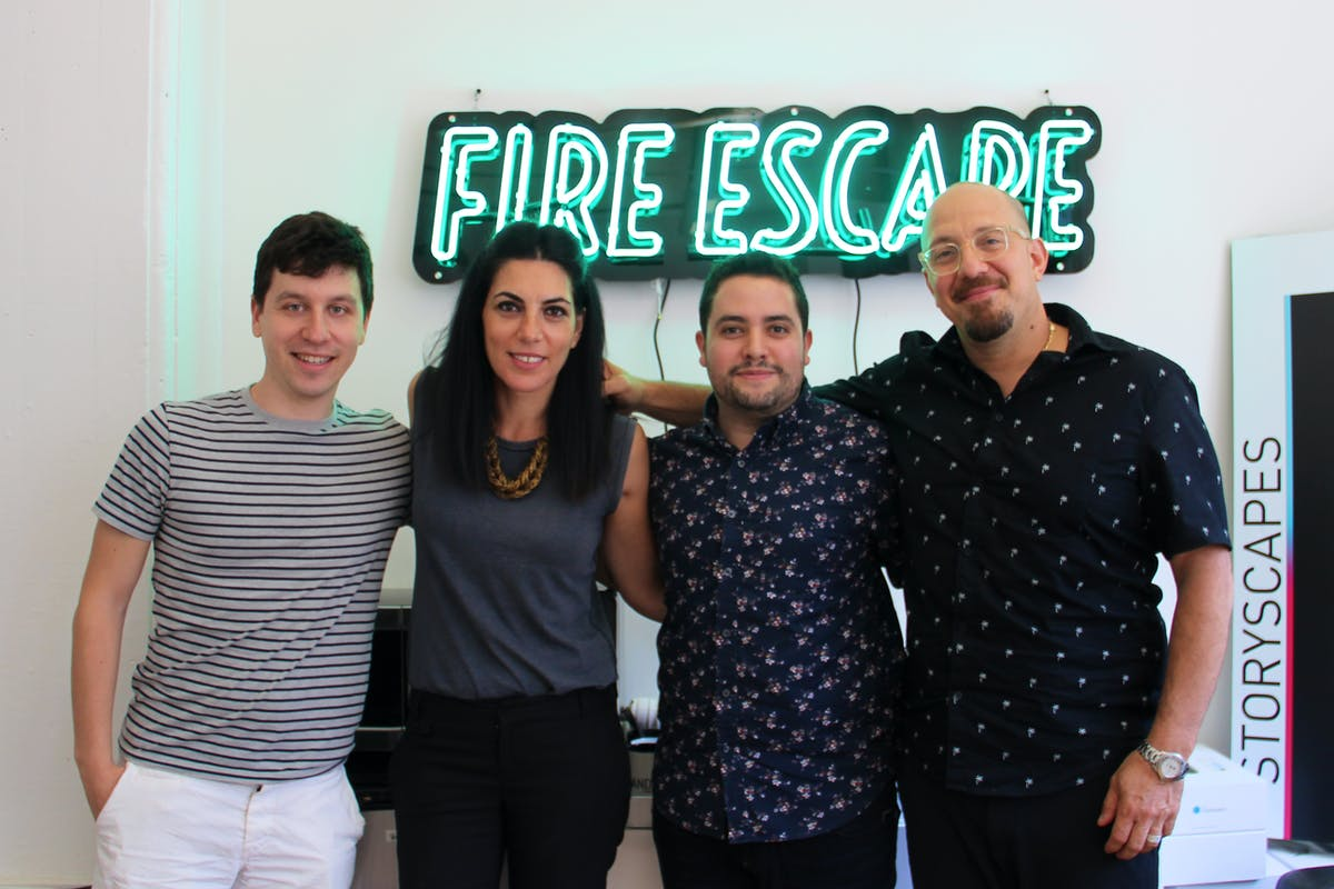 (l-r): Sam, Vassiliki, Andres, and Navid, the iNK Stories Team
