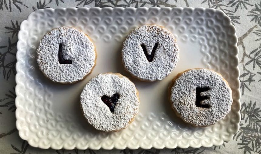 Love Linzers One Girl Cookies Valentines Day