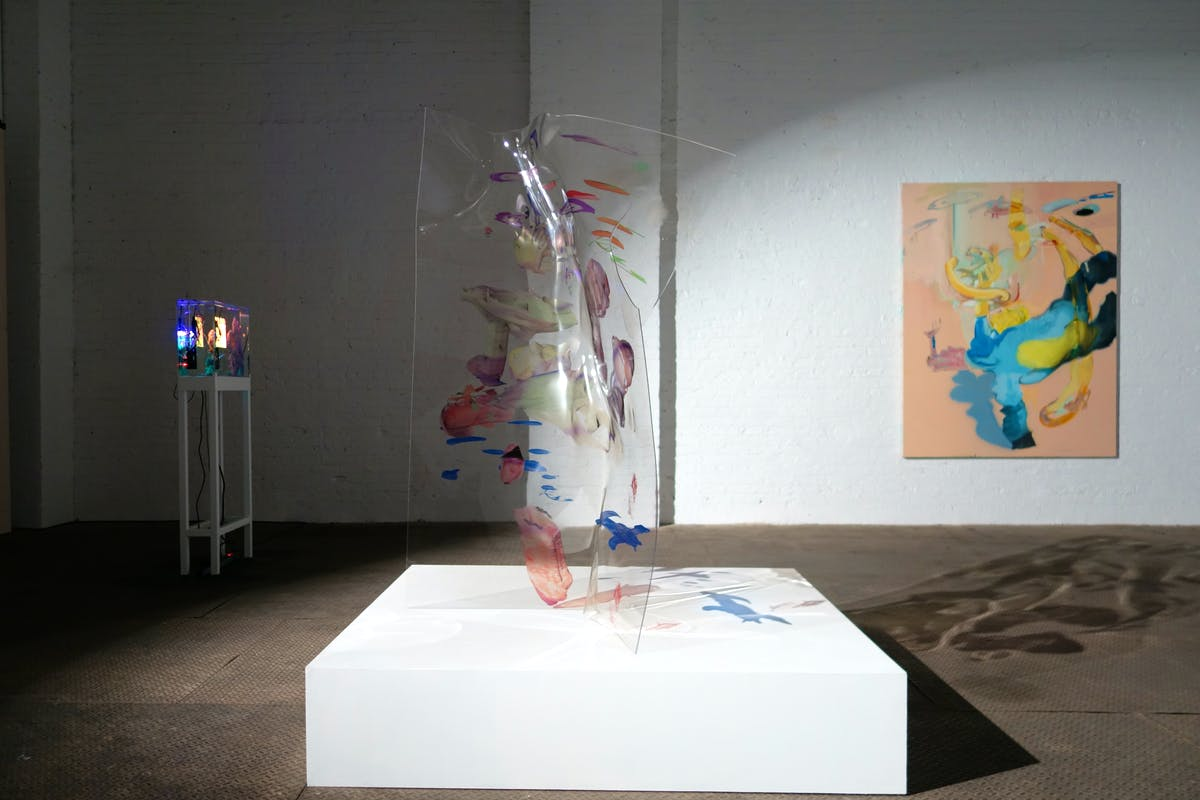 Rachel Rossin, Peak Performance, 2017, @ Signal Gallery, Brooklyn 2017