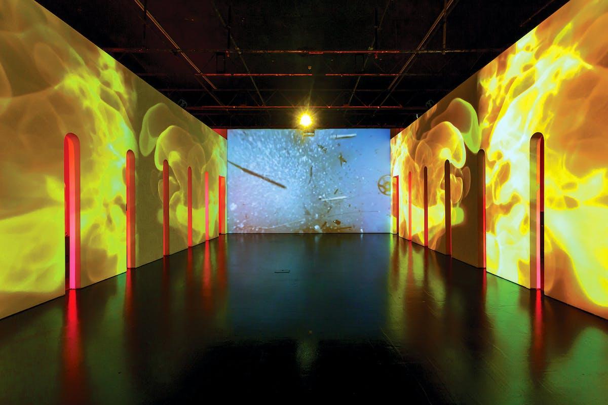 Rachel Rossin, Stalking the Trace, 2019, @ Zabludowicz Collection, London 2019 Curated by Maitreyi Maheshwari