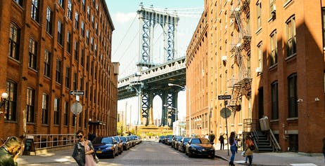 Washington Street view of the Manhattan Bridge