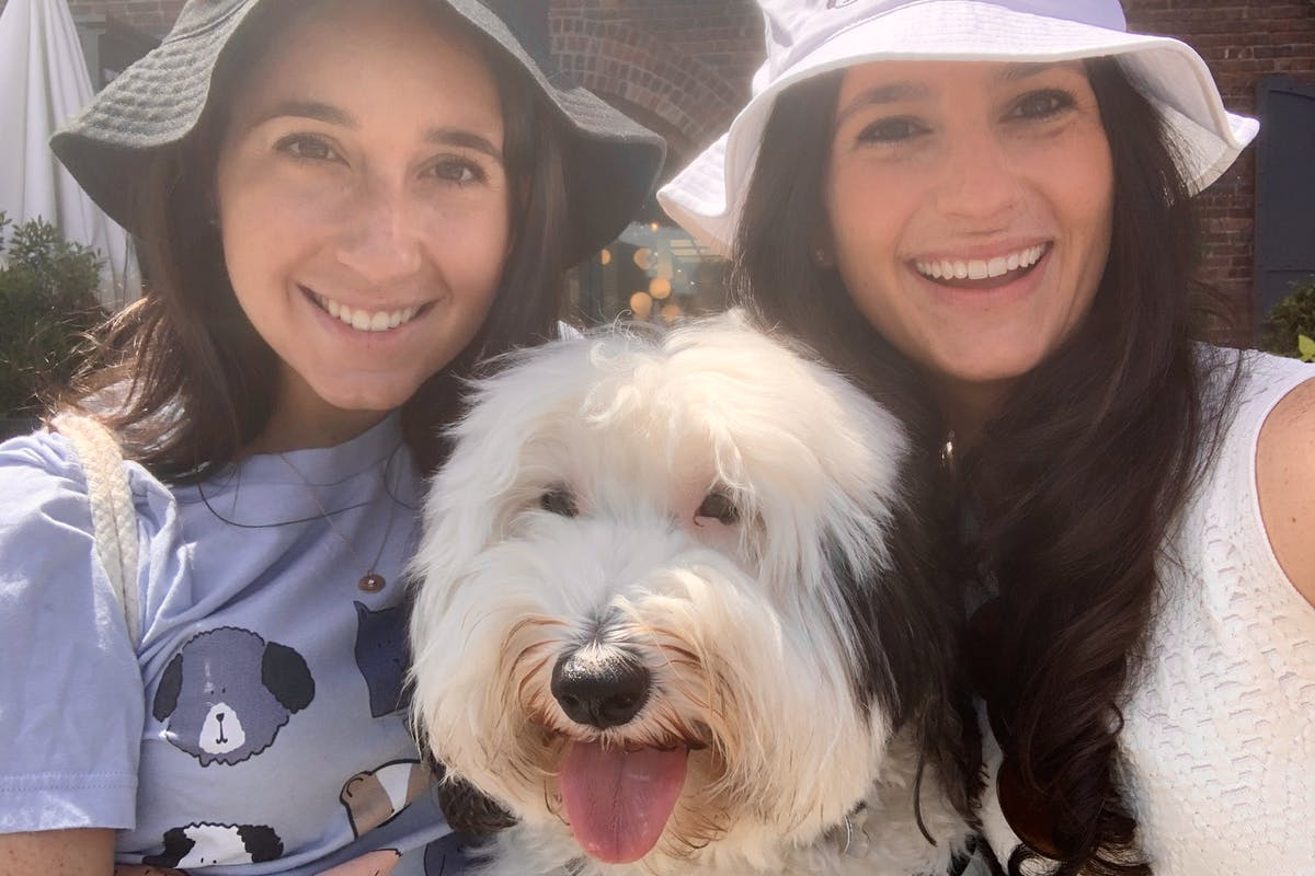 Millie with Mel and Wendi