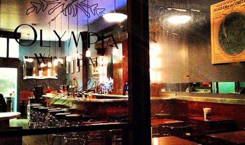 Olympia Winebar Signage